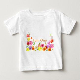 Watercolor poppy field baby T-Shirt