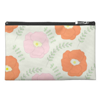 Watercolor Poppy Flower Bagettes Bag Travel Accessory Bags