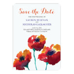 Watercolor Poppy Flowers | Save the Date 13 Cm X 18 Cm Invitation Card