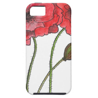 Watercolor Poppy iPhone 5 Cases