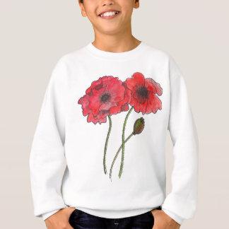 Watercolor Poppy Sweatshirt