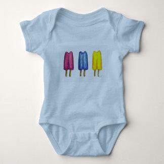 Watercolor Popsicles Twin Pop Pops Ice Lollies Baby Bodysuit