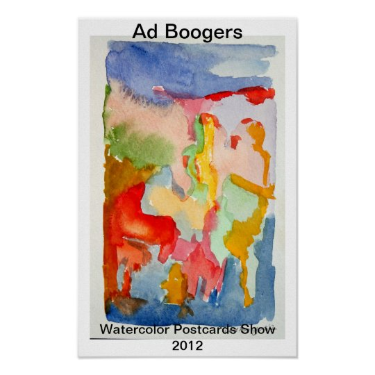 watercolor Postcards Show Poster