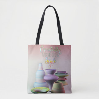 Watercolor Pottery Creativity Never Goes Out Style Tote Bag