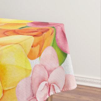 Watercolor Pretty Bright Florals Tablecloth