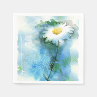 Watercolor Pretty Daisy - All Options Disposable Napkins