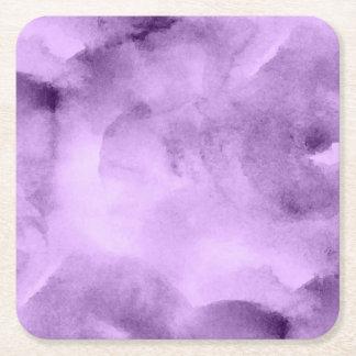 Watercolor Pretty Purples- All Options Square Paper Coaster