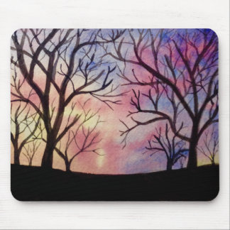 Watercolor Print Mouse Pad