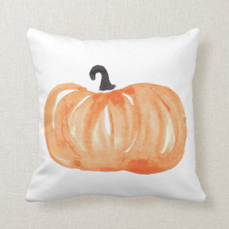 Watercolor Pumpkin Cushion