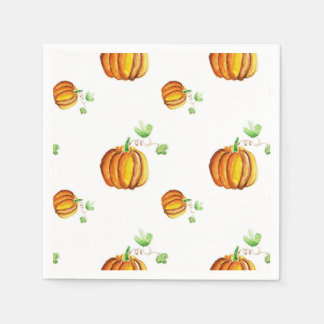 Watercolor pumpkins design paper serviettes