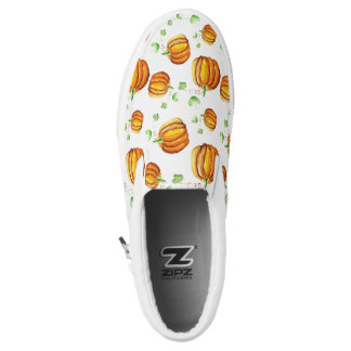 Watercolor pumpkins design slip on shoes