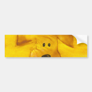 Watercolor Puppy Peek-a-Boo Bumper Sticker Car Bumper Sticker
