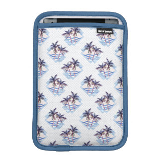 Watercolor Purple Geometric Palm Tree Pattern iPad Mini Sleeve