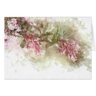 Watercolor Purple Jasmine Thank You Card