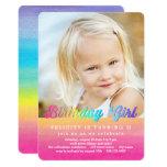Watercolor Rainbow Birthday Party Invitation