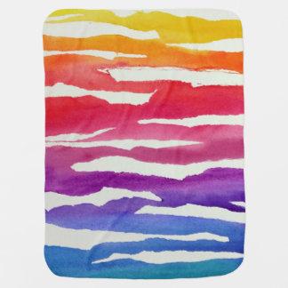 Watercolor Rainbow blanket