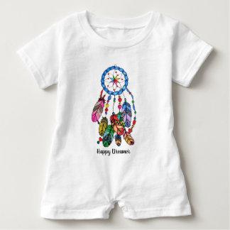 Watercolor rainbow dream catcher & inspiring words baby bodysuit