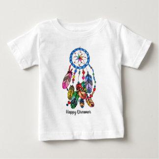 Watercolor rainbow dream catcher & inspiring words baby T-Shirt