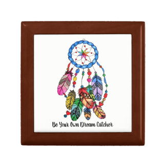 Watercolor rainbow dream catcher & inspiring words gift box