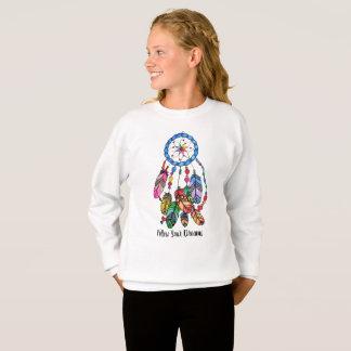 Watercolor rainbow dream catcher & inspiring words sweatshirt