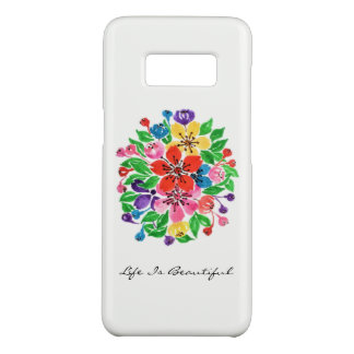 Watercolor Rainbow Flowers Case-Mate Samsung Galaxy S8 Case