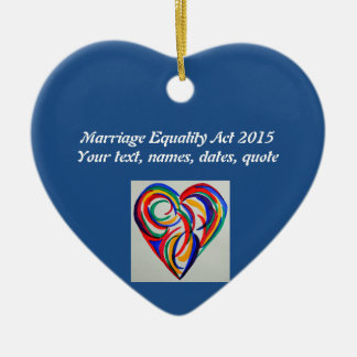 Watercolor rainbow heart, Marriage Equality Christmas Ornament
