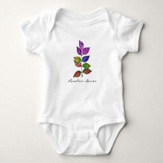 Watercolor Rainbow Leaves Baby Bodysuit