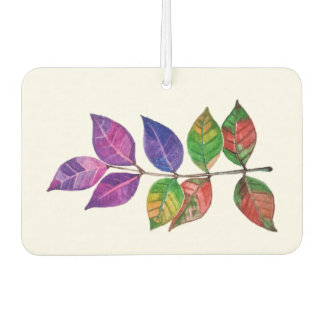 Watercolor Rainbow Leaves Car Air Freshener