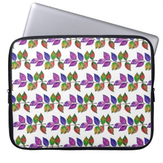 Watercolor Rainbow Leaves Laptop Sleeve