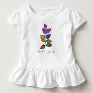 Watercolor Rainbow Leaves Toddler T-Shirt