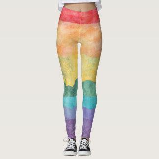 Watercolor Rainbow Leggings
