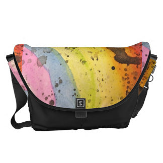 Watercolor Rainbow Messenger Bag
