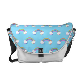 Watercolor Rainbow pattern Courier Bags