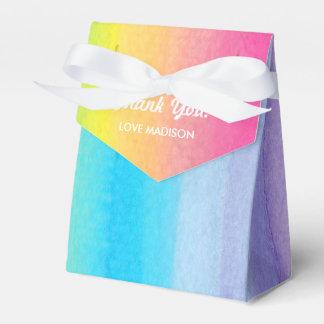 Watercolor Rainbow Personalized Favor Box