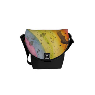 Watercolor Rainbow Small Messenger Bag