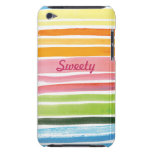 watercolor rainbow stripes  iPod Touch Case-Mate