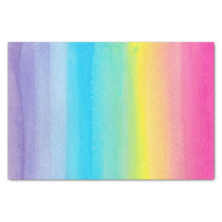 Watercolor Rainbow Tissue Paper