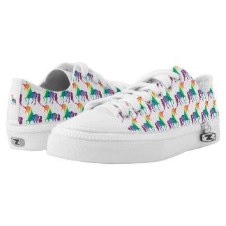 Watercolor Rainbow Unicorn Pattern Trendy Stylish Printed Shoes