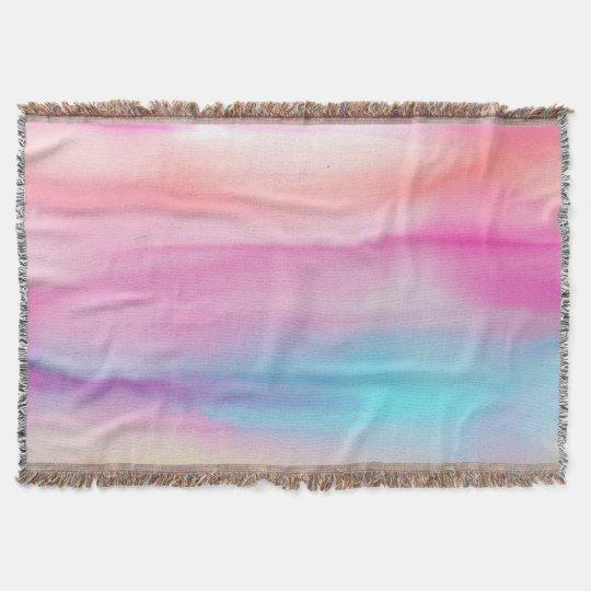 Watercolor Rainbows Throw Blanket