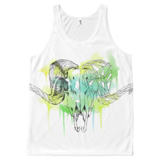 Watercolor Ram skull All-Over Print Tank Top
