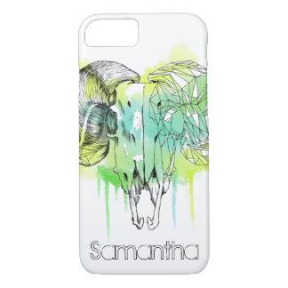 Watercolor Ram Skull iPhone 8/7 Case
