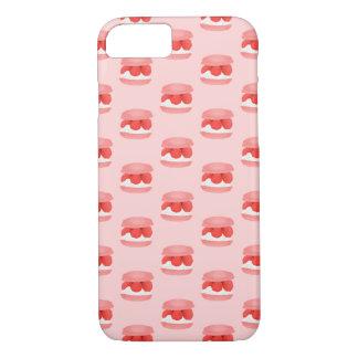 Watercolor Raspberry Cream Macaron All Over Print iPhone 7 Case