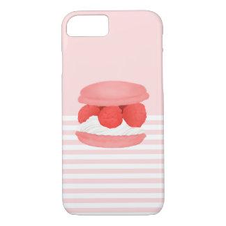 Watercolor Raspberry Cream Macaron Phone Case