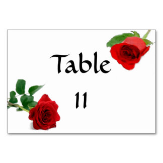 Watercolor Red Rose - Tablecard Card