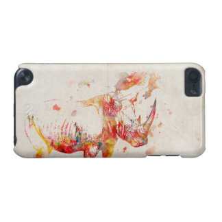 Watercolor Rhino Digital Painting iPod Touch 5G Cases