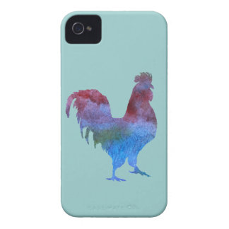 Watercolor Rooster Case-Mate iPhone 4 Cases