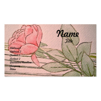 Watercolor Rose Business Card