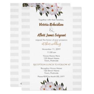 Watercolor Roses Ballerina Wedding Invitation