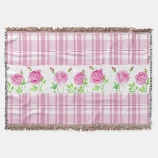 Watercolor roses blanket