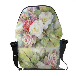 Watercolor Roses Bouquet Rikshaw Bag Courier Bag